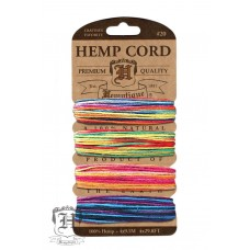 Hemp cord variegated card #20